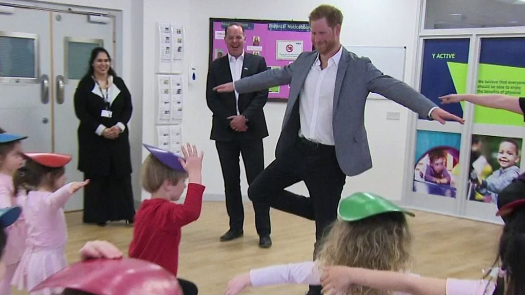 Prince Harry puts best foot forward
