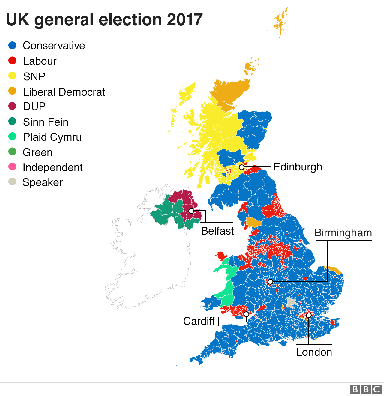 Graphic: Map of 2017 election results