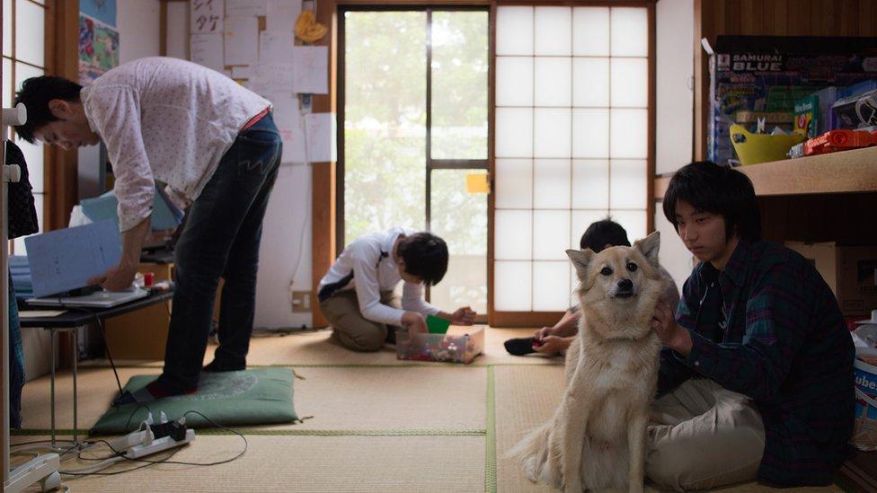 Estudiantes en una escuela en Japón.