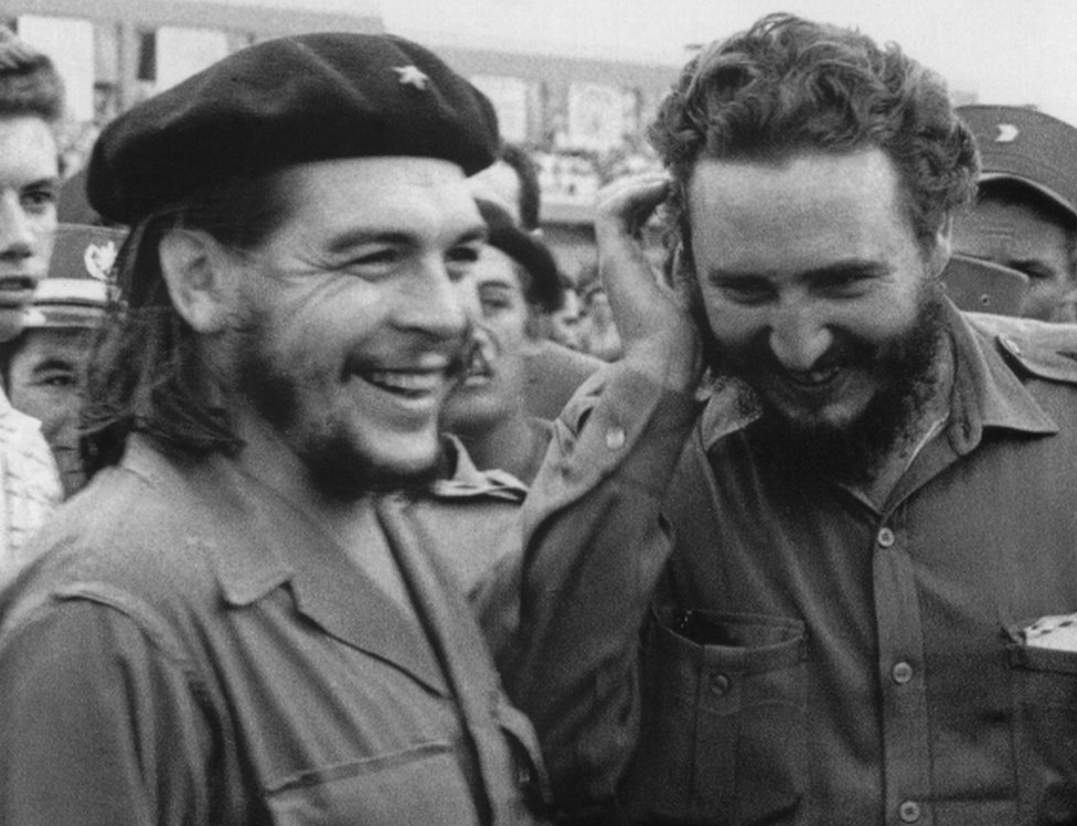 Cuban Prime Minister Fidel Castro (right) pictured in the 1960s during a meeting next to Argentine guerrilla leader Ernesto Che Guevara.