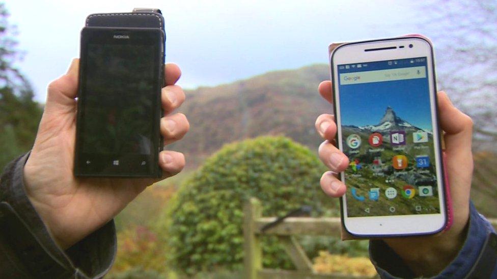 Mobile phones in a rural landscape