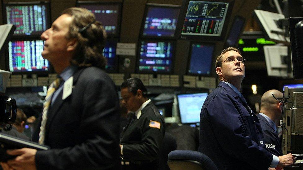 2008'deki mali krizle özdeşleşen bir kare