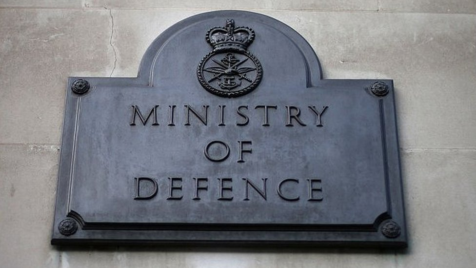 Ministry of Defence building sign