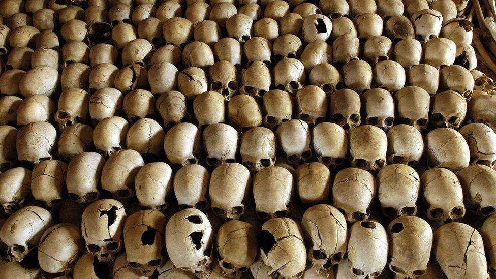 Muertos del genocidio en Ruanda.