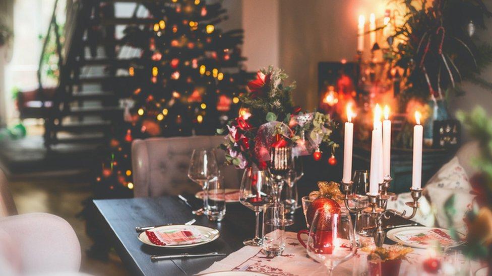Casa enfeitada para o Natal
