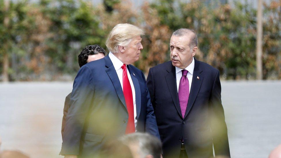 Donald Trump with Turkey's President Erdogan