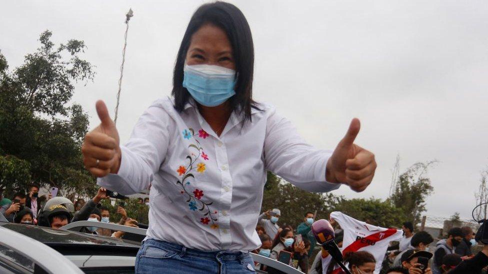 Keiko Fujimori tras votar el pasado 6 de junio.