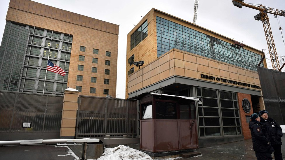 USA embassy in Moscow