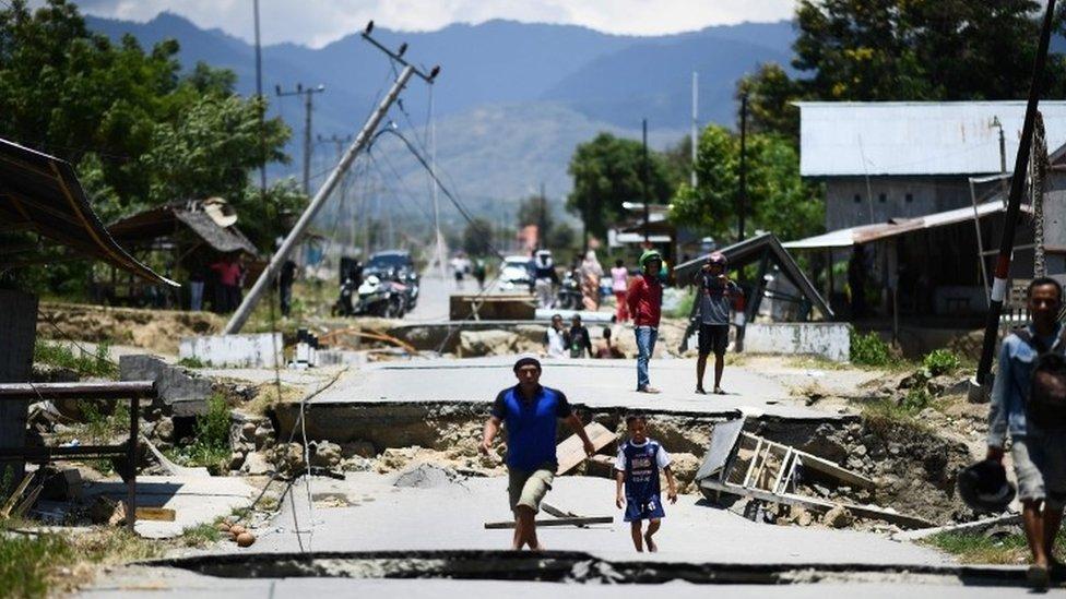 Palu posle zemljotresa