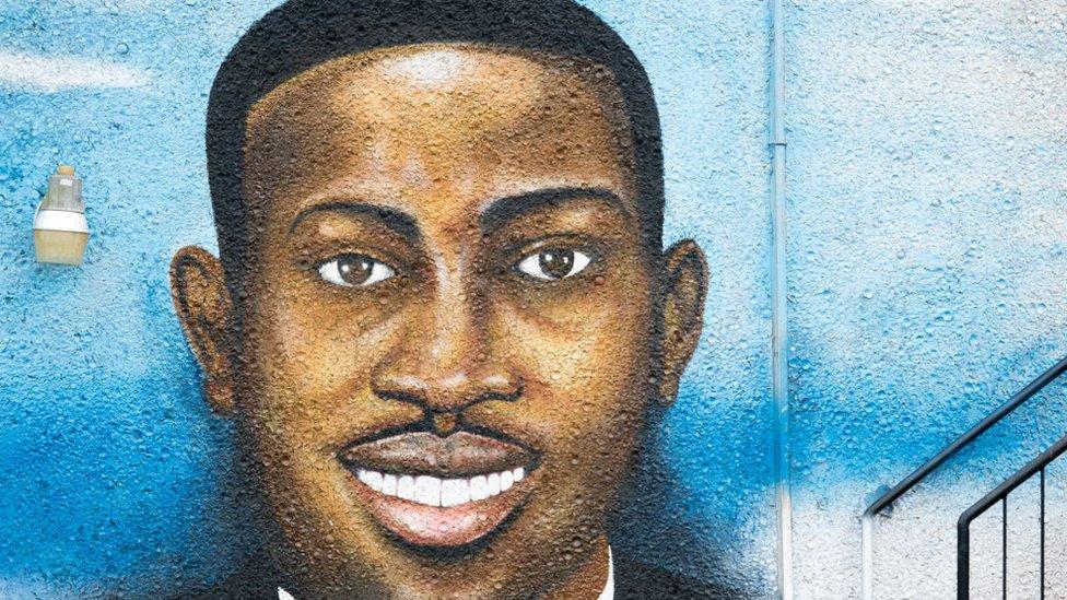 槍擊案受害者艾哈邁德·阿伯裏的街頭繪畫作品