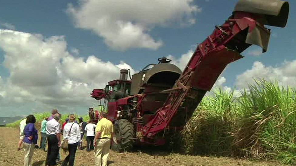 A tractor in Cuba