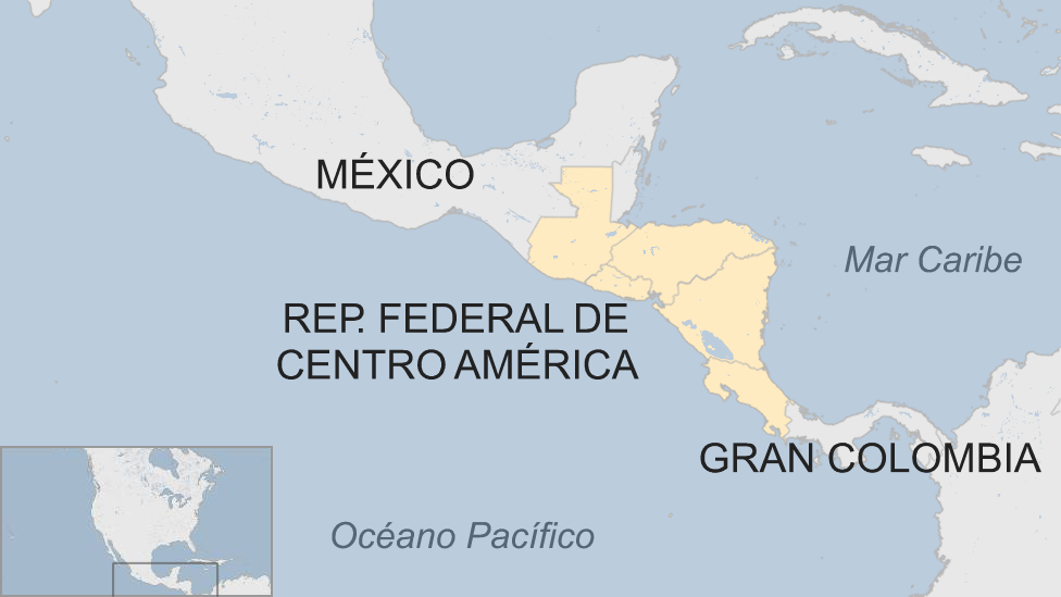 Mapa de la Rep. Federal de Centro América