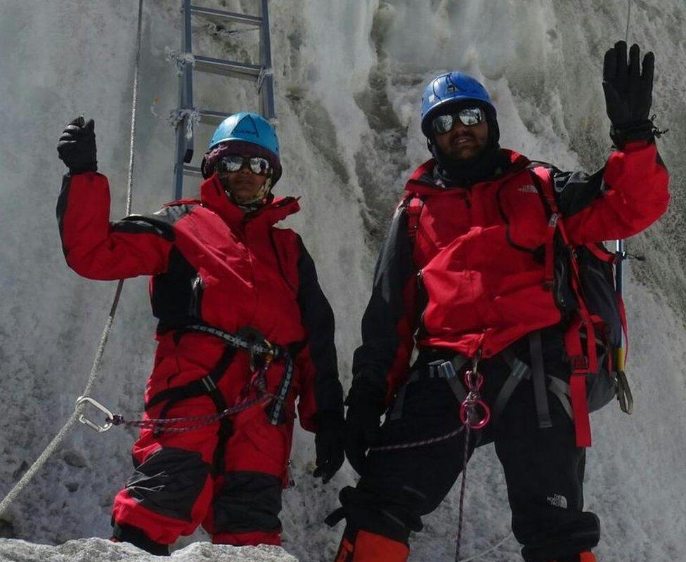 The Rathod couple on Everest
