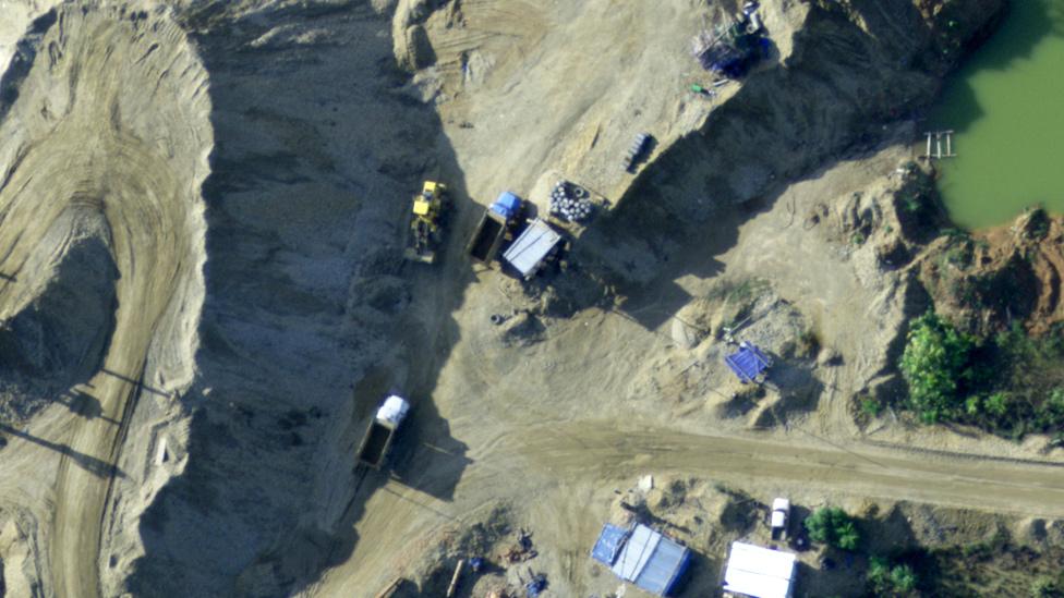 Desforestación y minería ilegal en la región de Madre de Dios