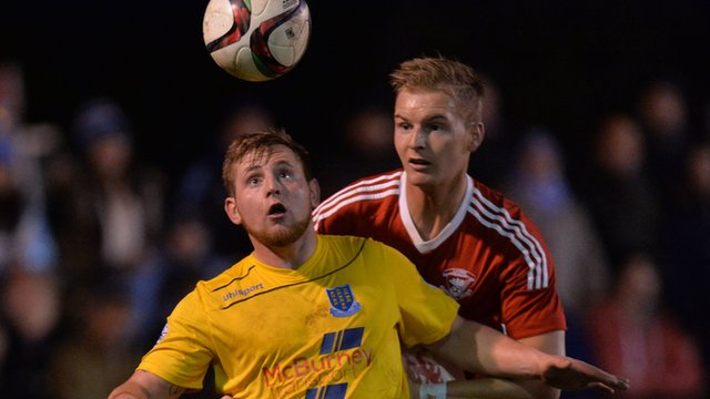 David Cushley scored the winning goal for Ballymena after having an otherwise quiet game