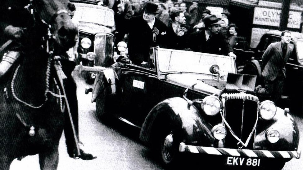 Sir Winston Churchill used the modified Daimler which included a loudspeaker system