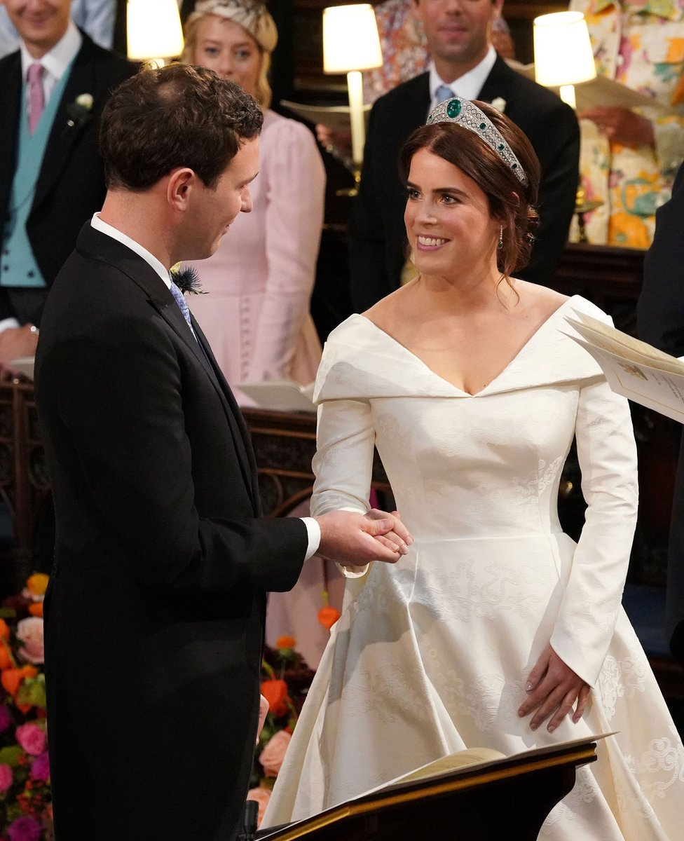 """The wedding of Princess Eugenie to Jack Brooksbank at St George""""s Chapel in Windsor Castle"""