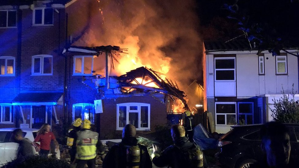 Harrow fire: Woman dies in suspected gas blast