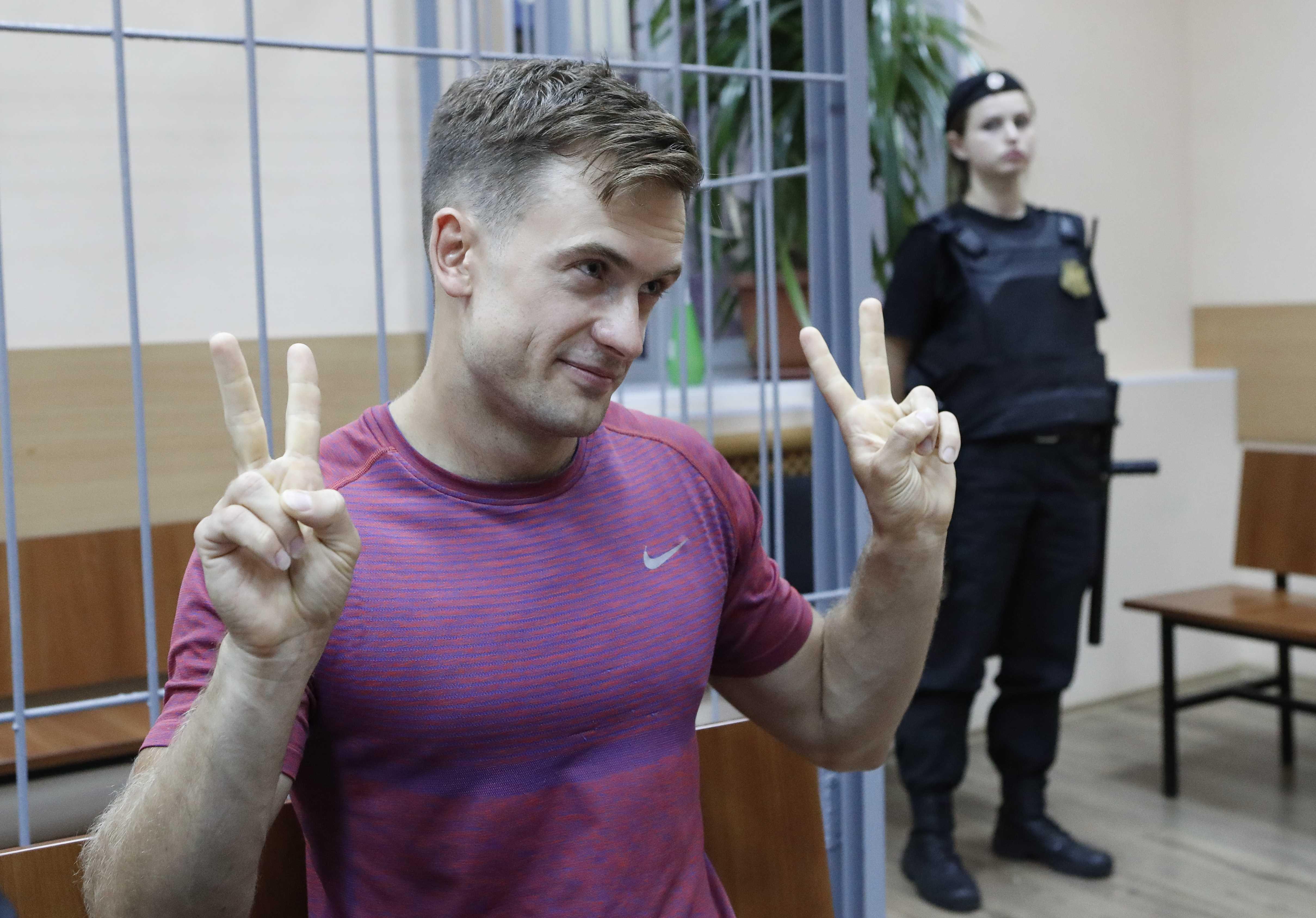 Pyotr Verzilov fue condenado a 15 días de prisión.