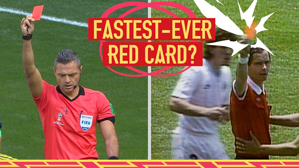 World Cup: The fastest-ever World Cup red card, featuring Uruguay's Jose Batista