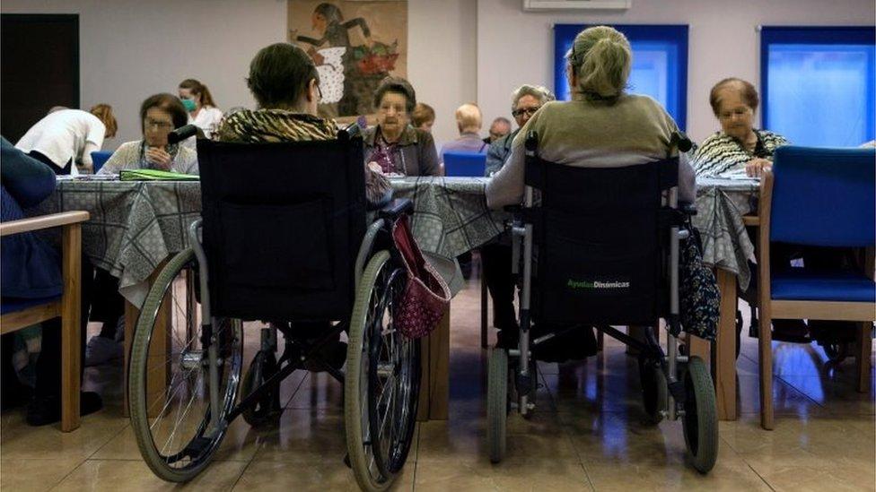Un asilo de ancianos en Cataluña