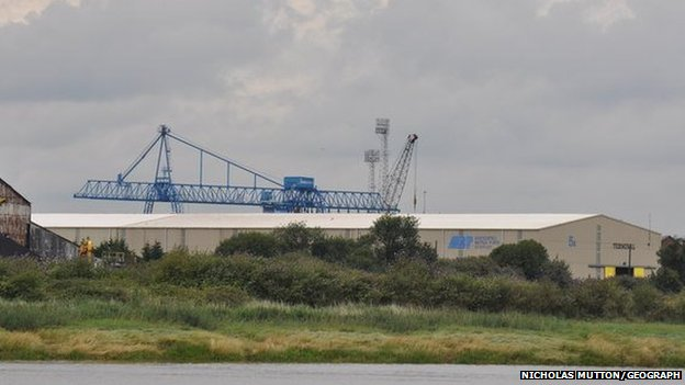 Associated British Ports site at the Port of Newport