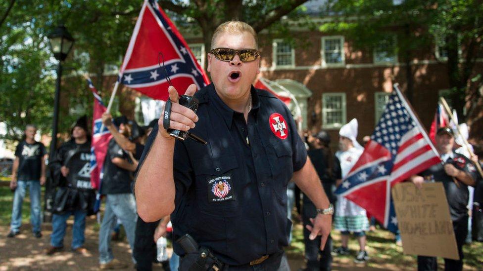 Un grupo de supremacistas blancos en EE.UU.