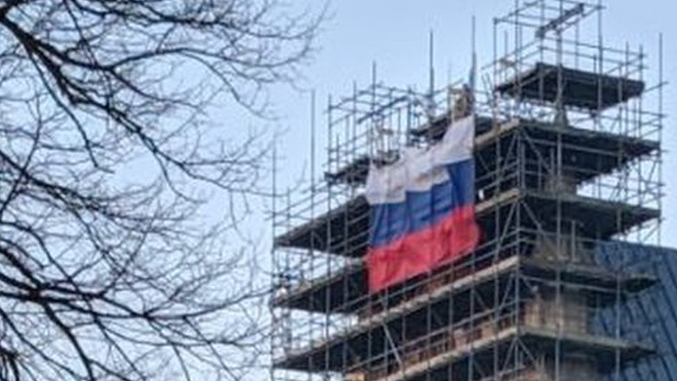 Russian flag flown on Salisbury Cathedral 'disrespectful'