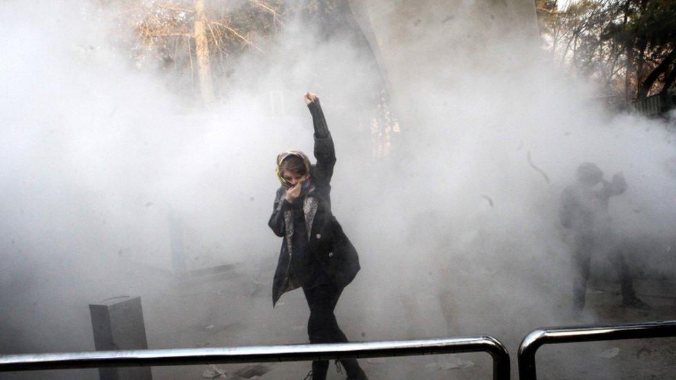 مظاهرات في إيران (صورة ارشيفية)