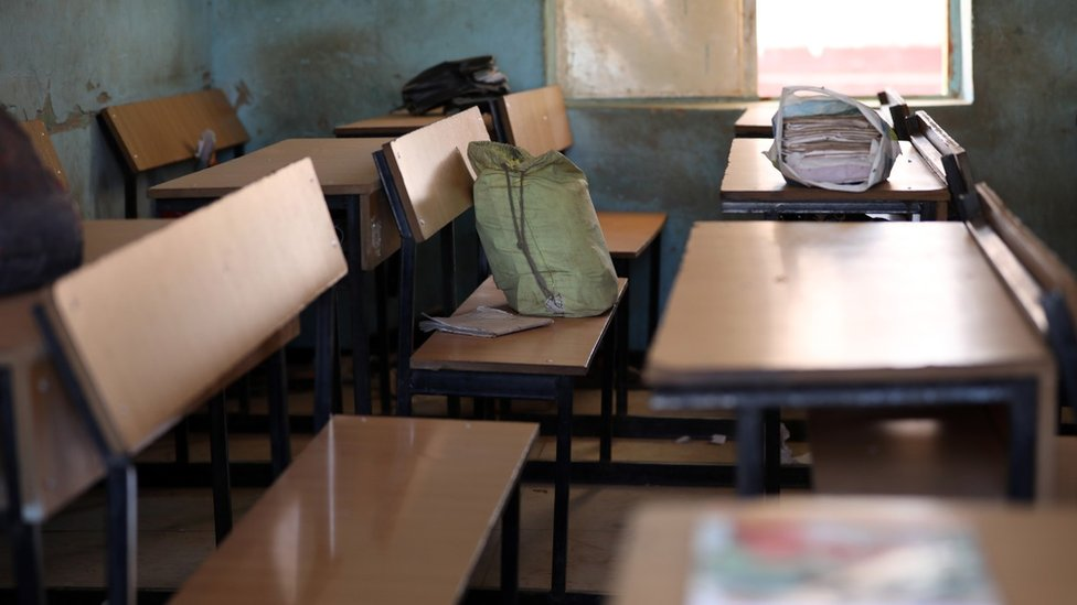 An empty classroom from where children were abducted in Katsina state