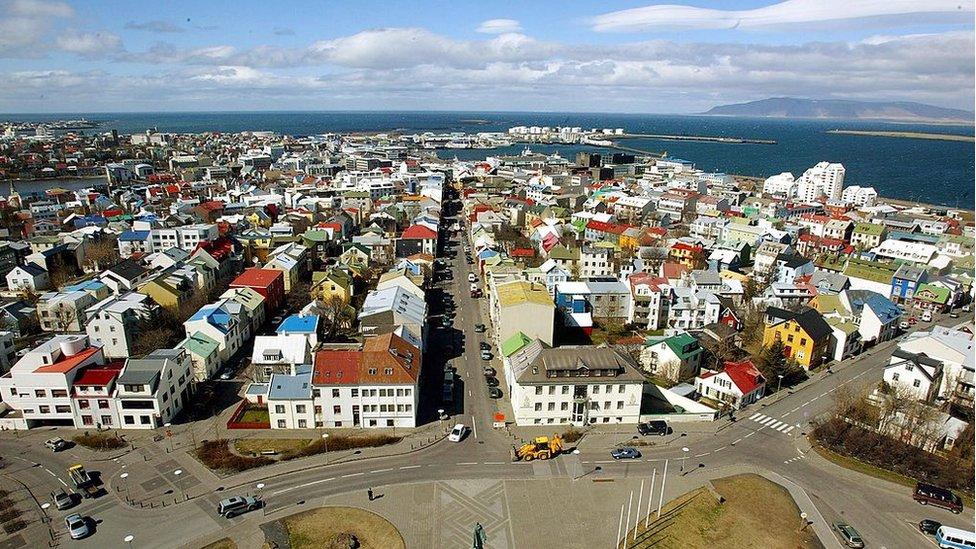 Reykjavik, capital de Islandia.