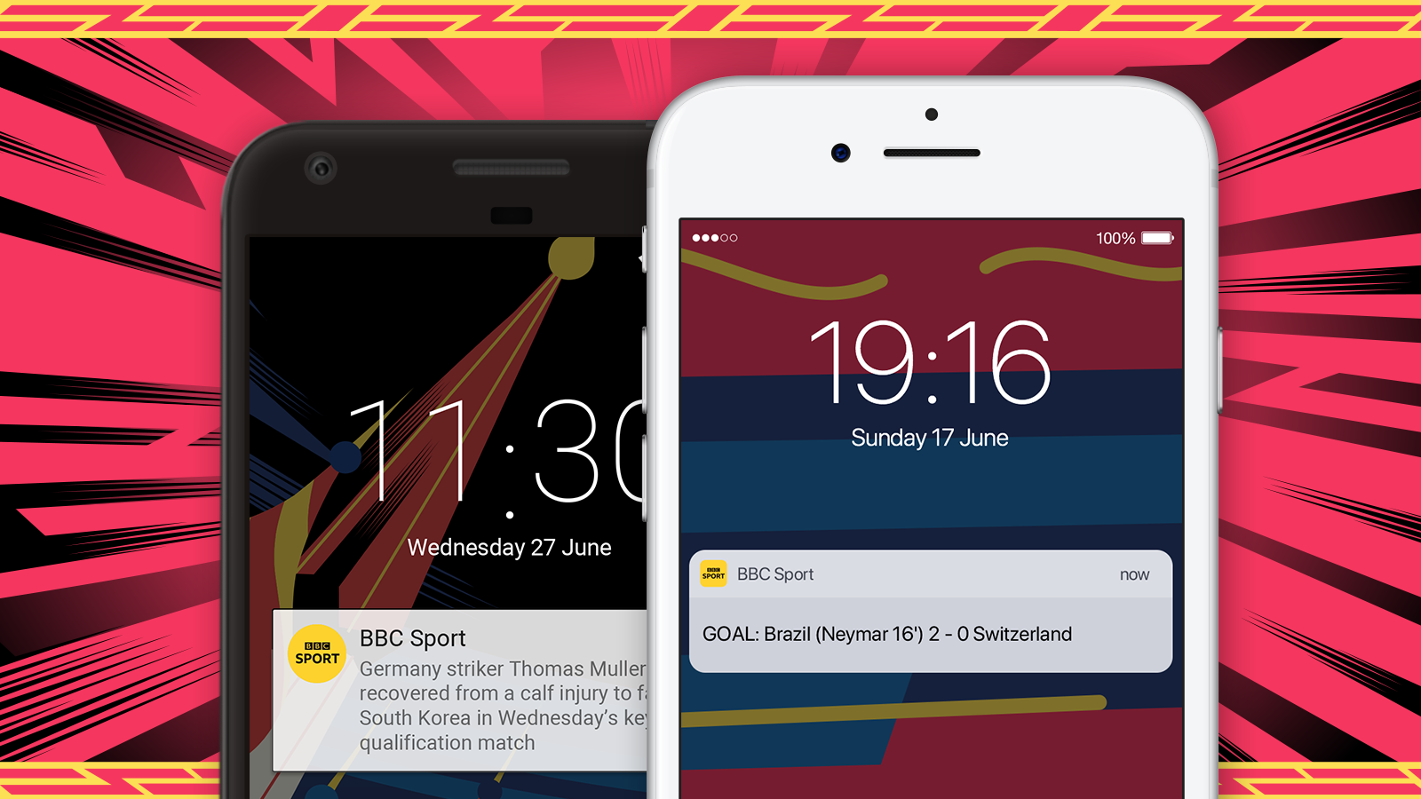 Personalise your BBC Sport app and sign up for notifications
