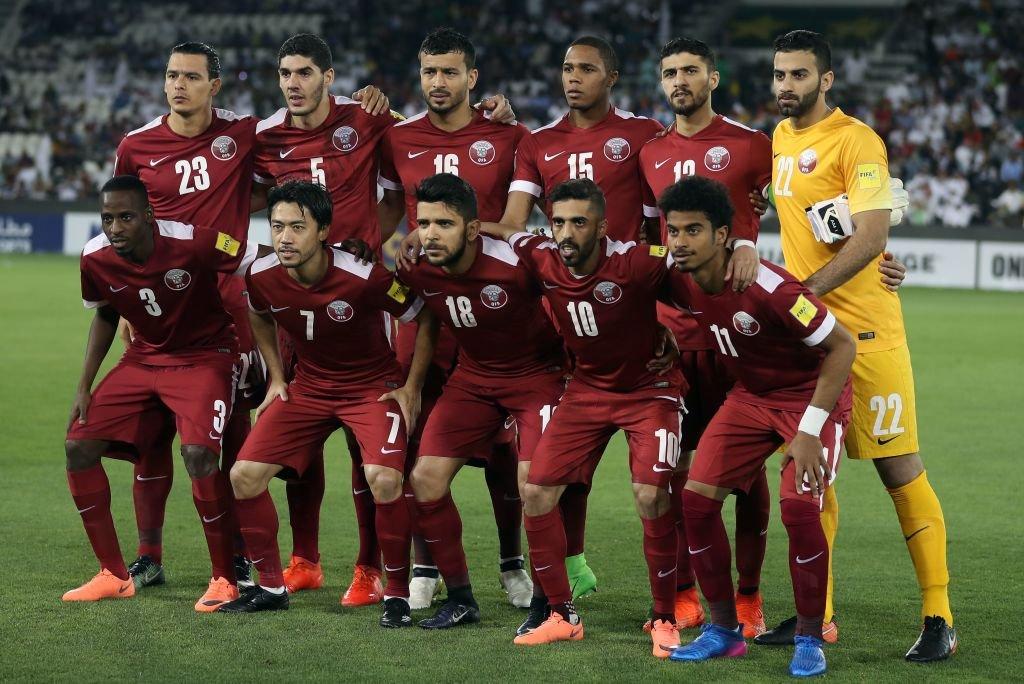Selección de Qatar en un partido de 2017.
