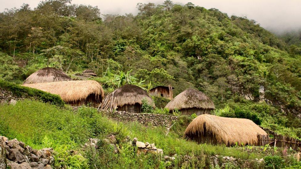 Aldea remota en Papúa Nueva Guinea