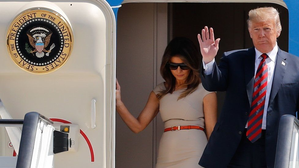 زيارة ترامب للمملكة المتحدة في يوليو/تموز الماضي لم تكن رسمية