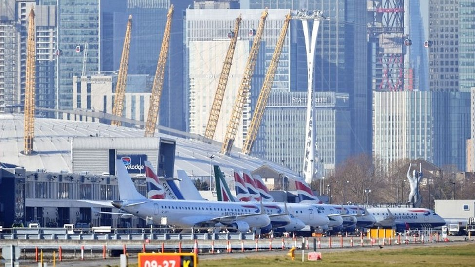 London City Airport planes