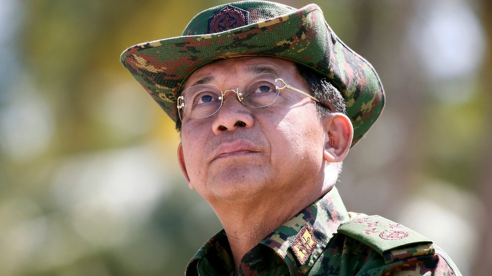 Myanmar's Commander-in-Chief Min Aung Hlaing in February 2018