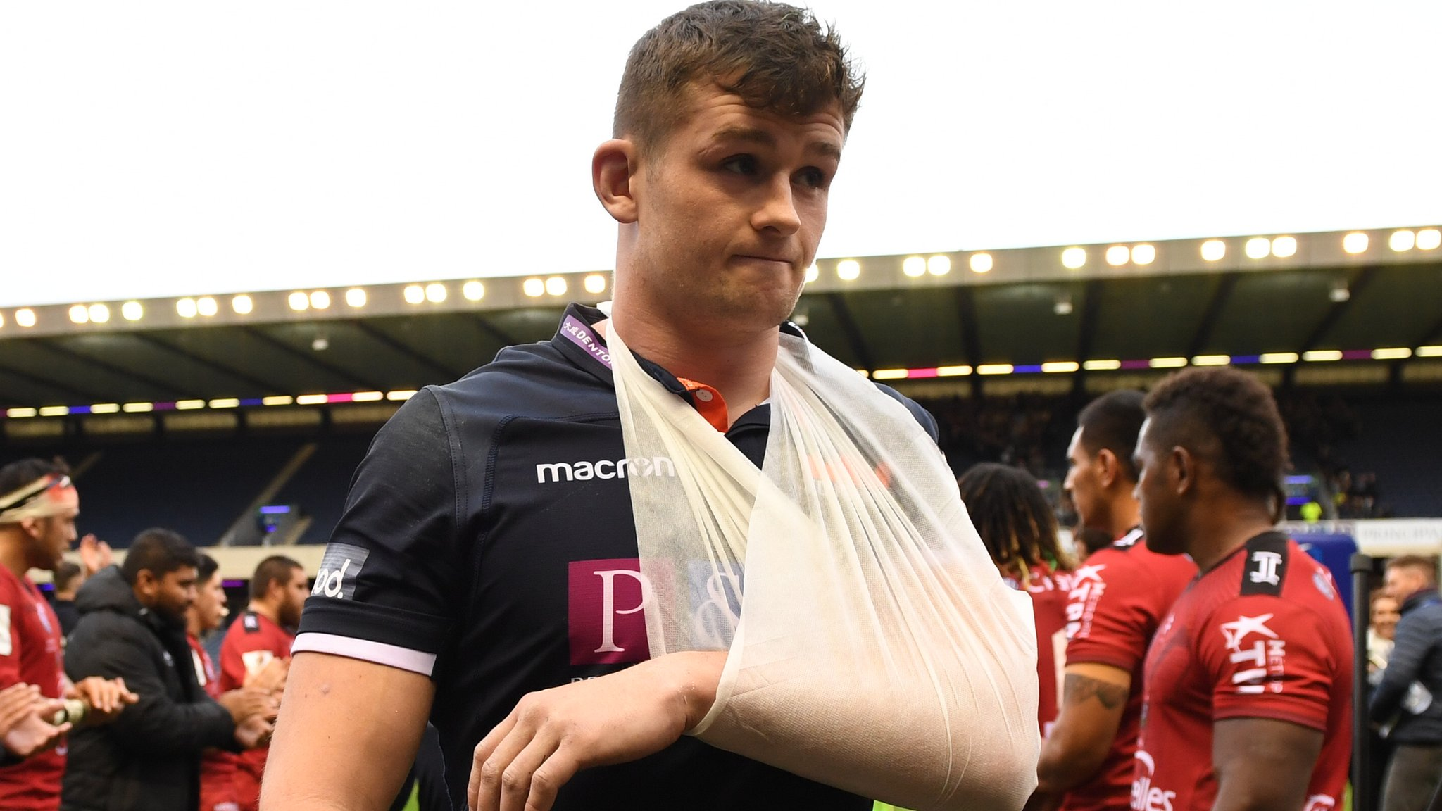 Injured flanker Bradbury may miss Scotland's autumn Tests