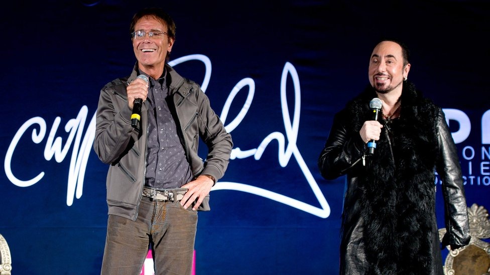 Cliff Richard and David Gest