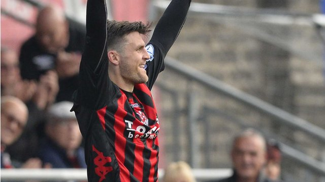 Crusaders striker Diarmuid O'Carroll scored the only goal of the game