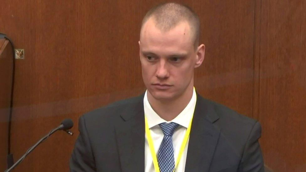 Zachary Bravinder en el juicio a Derek Chauvin
