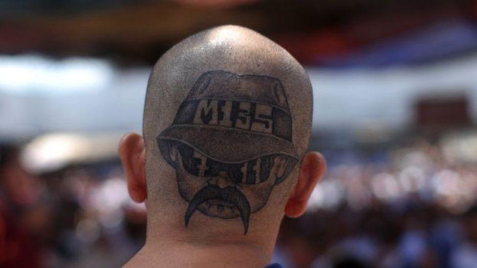 BBC, NO USAR | Cabeza tatuada de un miembro de la Mara Salvatrucha.