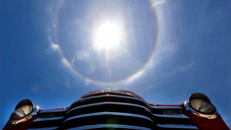Un halo solar en La Habana
