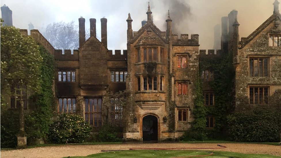 Parnham house after the fire