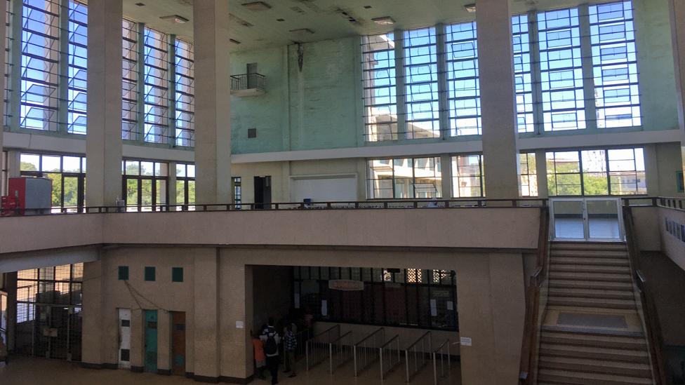 Inside of Dar es Salaam Tazara railway station