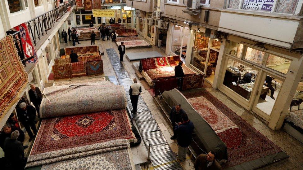 Tienda de alfombras en Irán