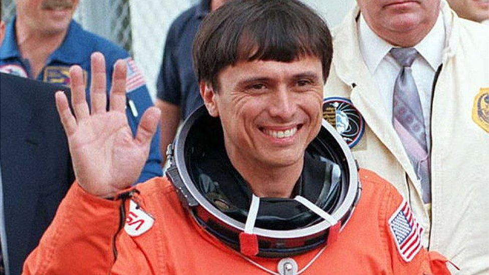 Franklin Chang Díaz al regreso de una de sus misiones espaciales.