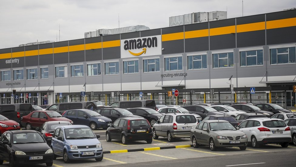 Amazon fulfilment center in Sosnowiec, Poland on 13 May, 2019.