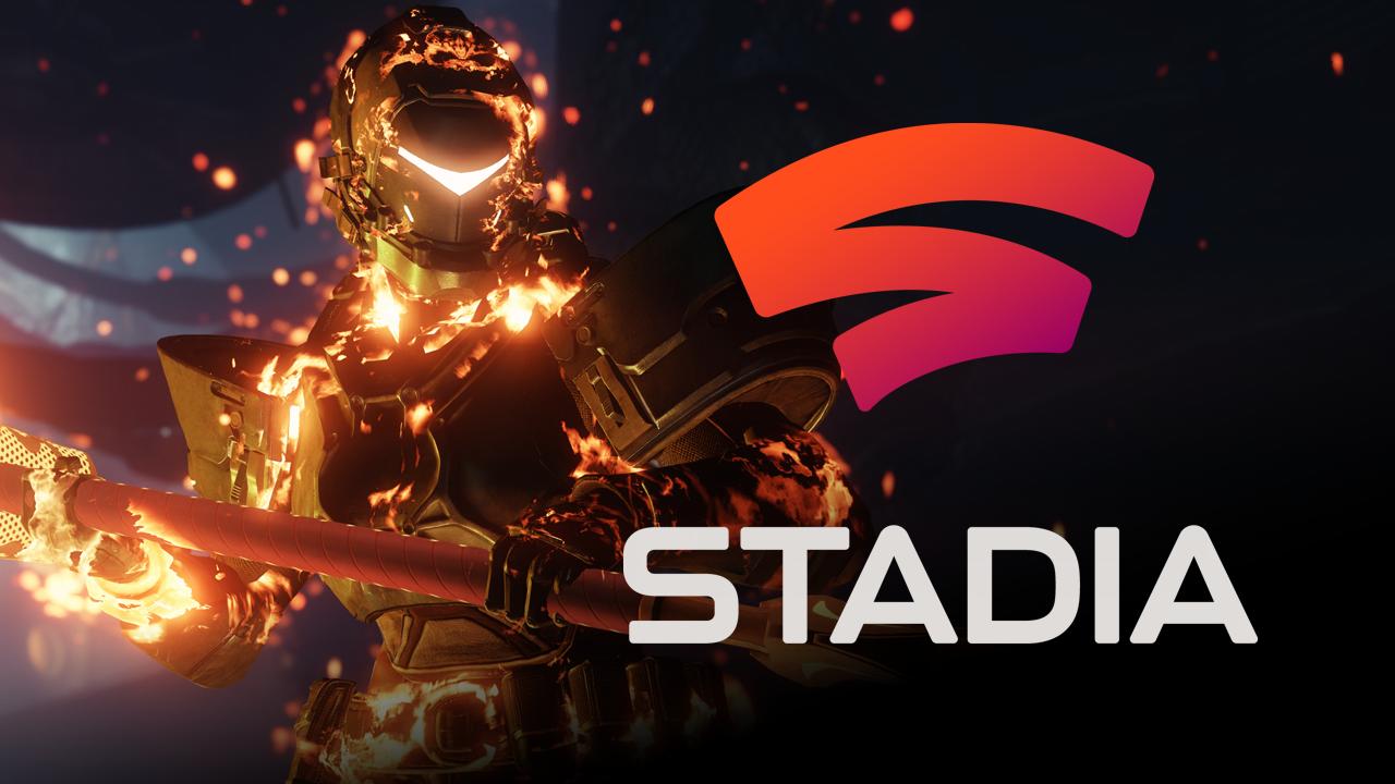 Destiny 2 character with Stadia logo