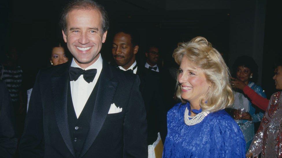1987年,吉爾和丈夫拜登